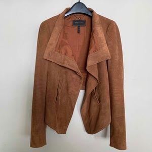 BCBGMAXAZRIA Brown Suede Cropped Jacket